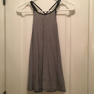 Hollister Striped double strap tank top